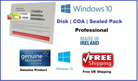 China Original Singapore / Ireland Windows 10 Key Code With Eight Languages supplier