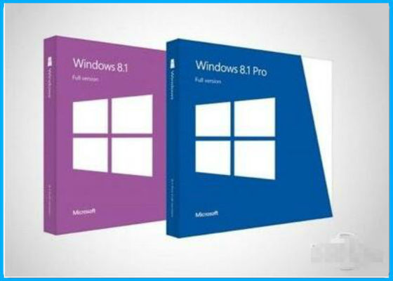 China Custom Language Windows 8.1 Pro Retail Box , Windows 8.1 SP1 1GHz Processor supplier
