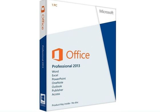 China DVD Key Card Microsoft Office Pro Plus 2013 , Office 2013 Pro Retail Pack Version supplier