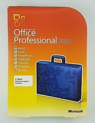 China Multi Language Microsoft Office 2010 Professional Retail Box With License / DVD supplier
