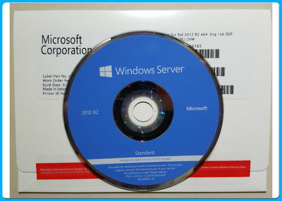 China Standard R2 English Windows Server 2012 Retail Box 1PK DVD 2CPU / VM OEM Pack supplier
