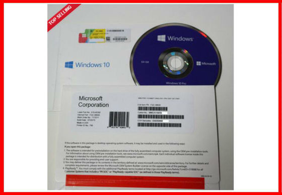 China Microsoft Windows 10 Pro Software OEM Pack , Win10 Home Geniune License supplier