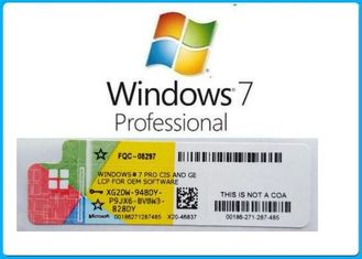 China Full Version Windows 7 Key Code , Windows 7 Product Key Sticker With Activation Key supplier