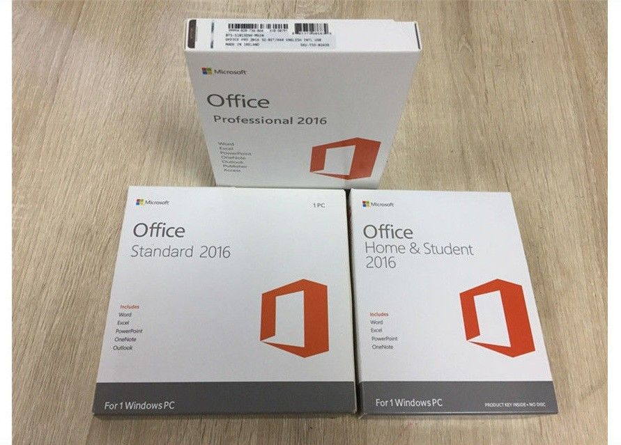Business PKC OEM Microsoft Office 2016 Home , Microsoft Coa Sticker ...