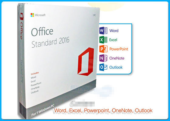 China Online Activation Microsoft Office 2016 Pro Standard License 1 PC DVD factory