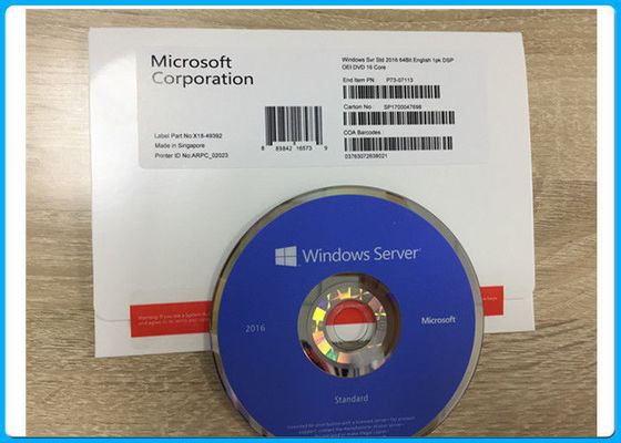 Microsoft Software Key Code Windows Server 2016 Standard 64bit OEM 16 CORE