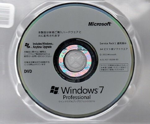 Microsoft Windows 7 Professional 64 Bit DVD 100% Original COA License Key