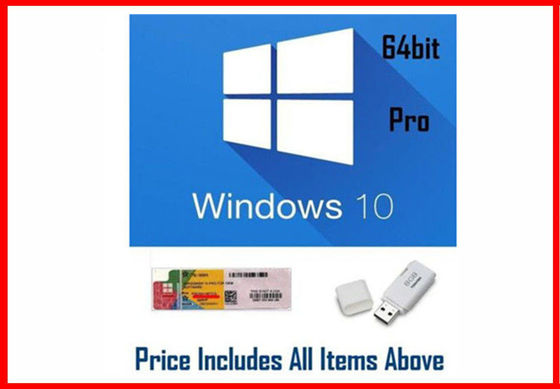 Win 10 Pro OEM Software / Windows 10 Product Key Code 64 Bit With DVD